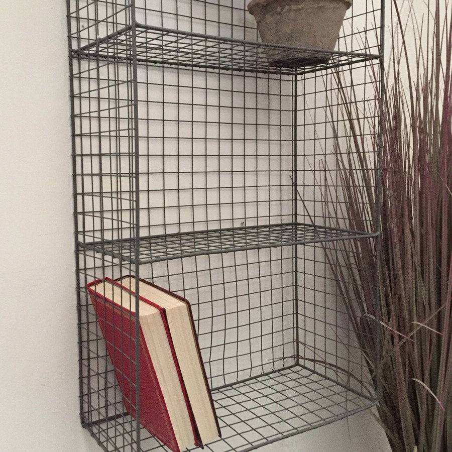 Industrial Wirework Wall 4 Shelf - The Farthing  - 1