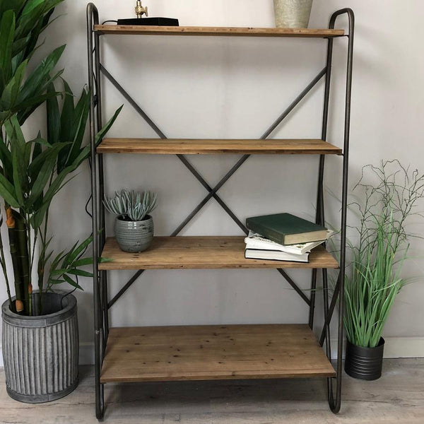 Industrial Wood and Metal Shelves at the Farthing 1