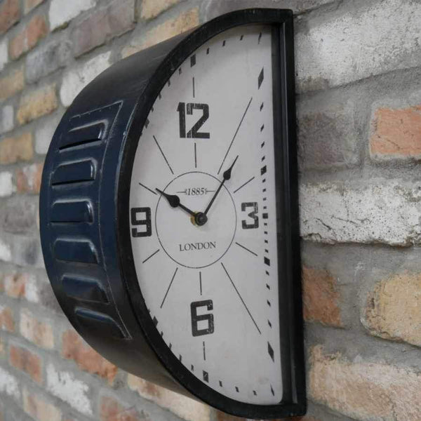 Industrial Double Side Wall Clock 1