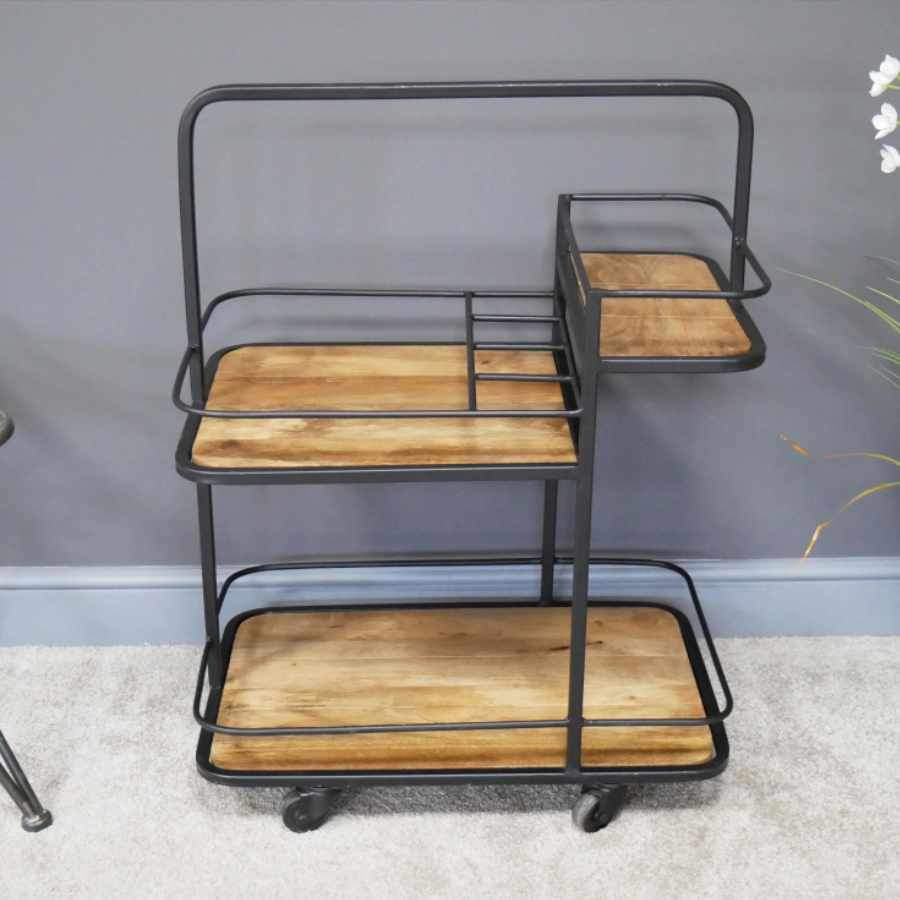 Industrial Inspired Drinks Storage Trolley 5