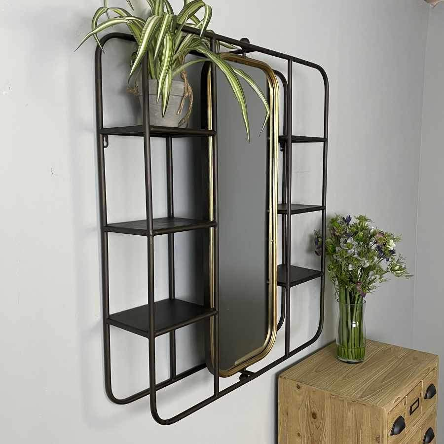 Industrial Wall Storage with Tilting Mirror | Farthing