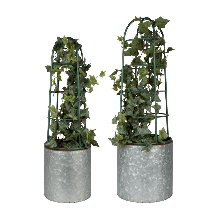 Industrial Flower Pots with Plant Support at the Farthing