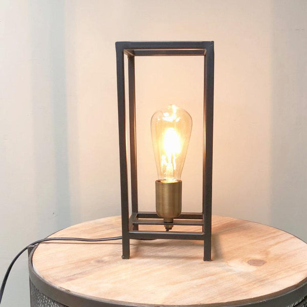 Industrial Frame Table Lamp at the Farthing  1
