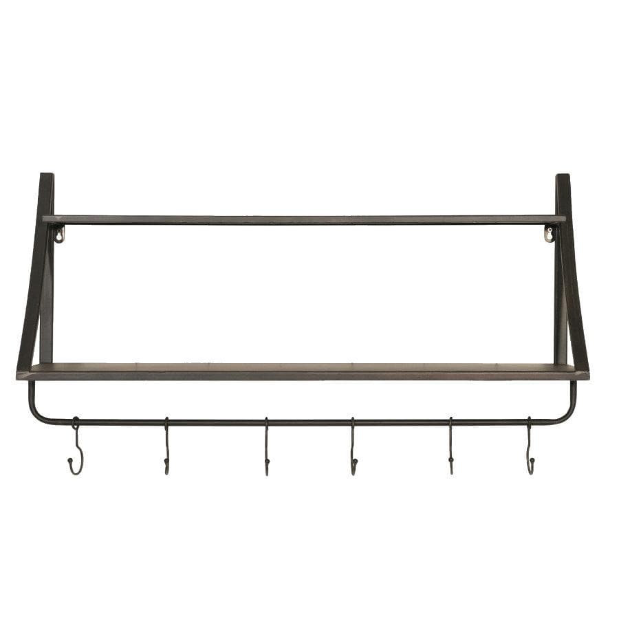 Industrial Iron Shelf & Hooks at the Farthing