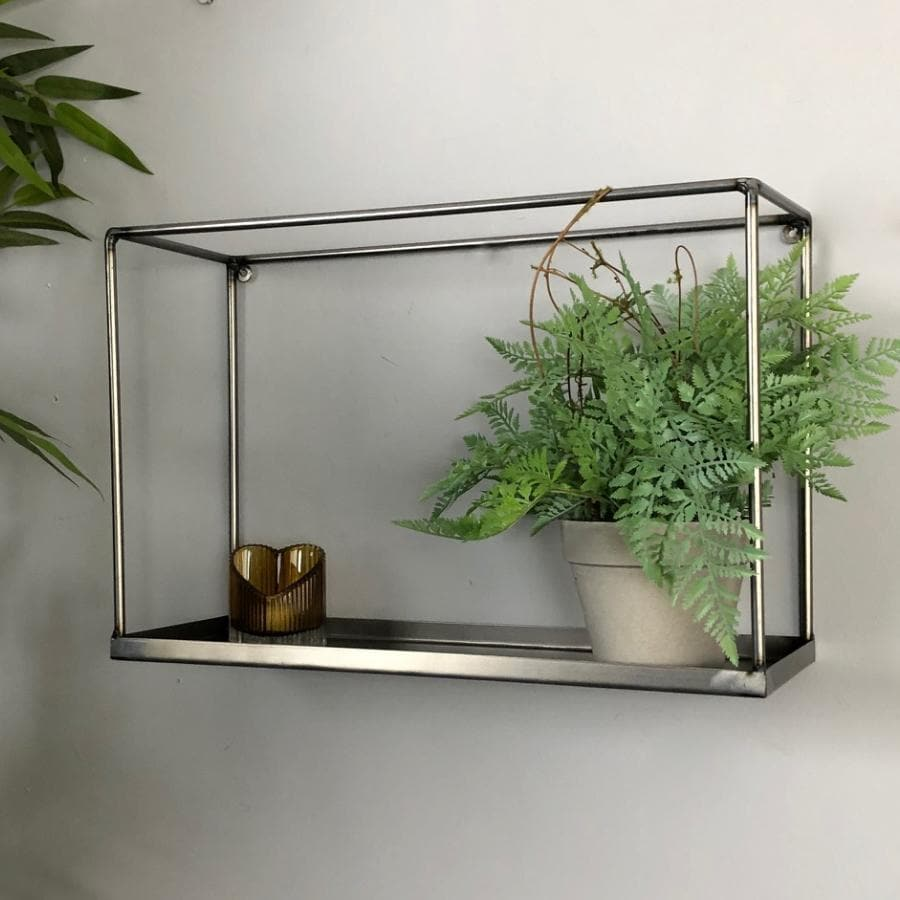 Industrial Metal Box Shelf at the Farthing