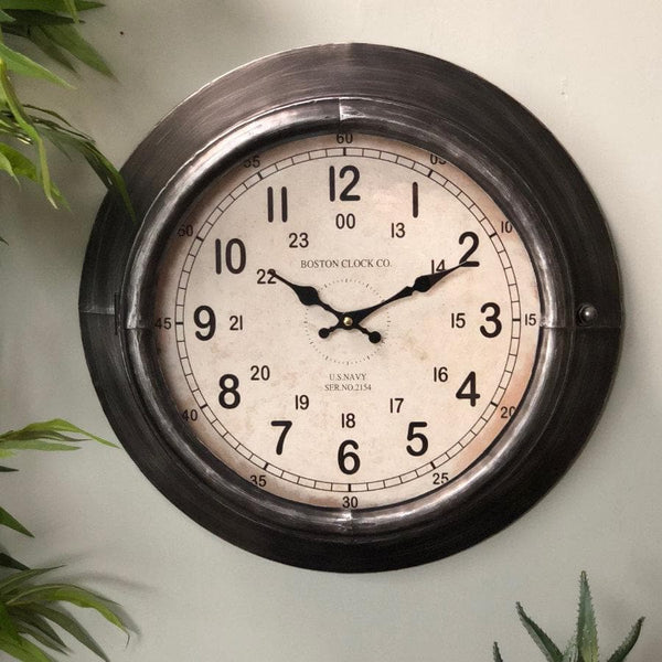 Industrial Porthole Wall Clock at the Farthing 1
