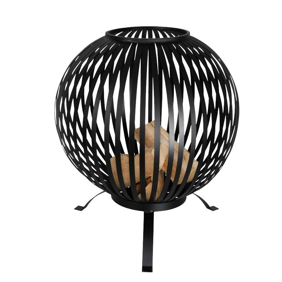 Industrial Round Fire Basket at the Farthing