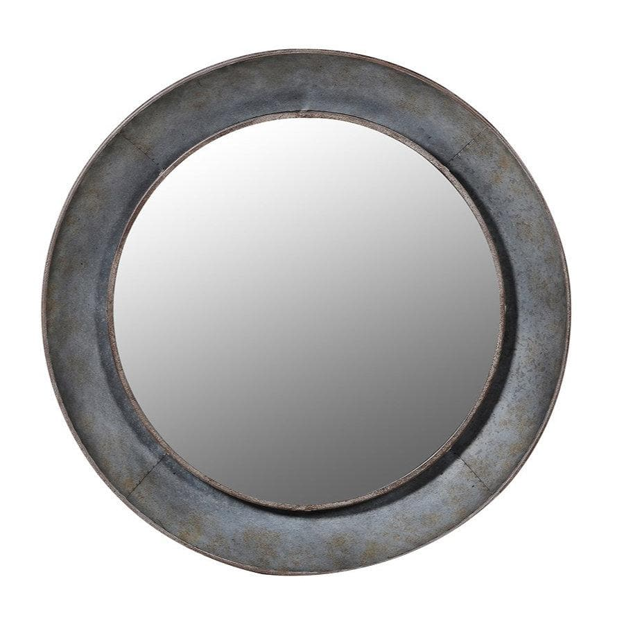 Industrial Round Kimberley Wall Mirror at the Farthing 1