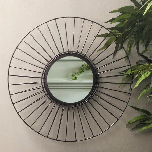 Industrial Round Wire Wall Mirror | The Farthing mirrors