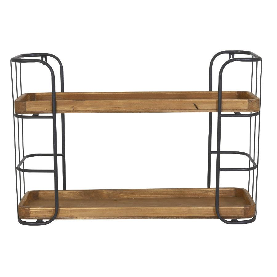 Industrial Two Shelf Wall Unit at the Farthing