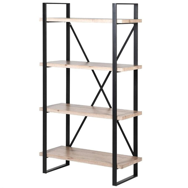 Iron and Wood Loft Shelving Unit at the Farthing