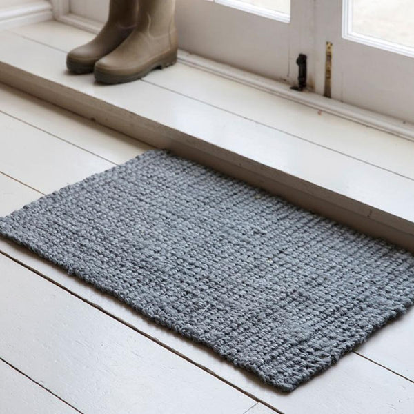 Jute Interior Doormat in Charcoal | Farthing