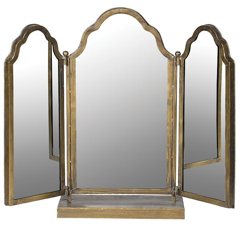 Adjustable Distressed 3 Piece Table Mirror