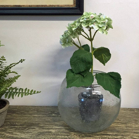 Large Recycled Glass Bubble Vase - The Farthing