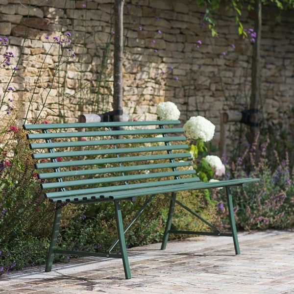 Large Chic Battersea Bench in Thyme Green - The Farthing  - 1