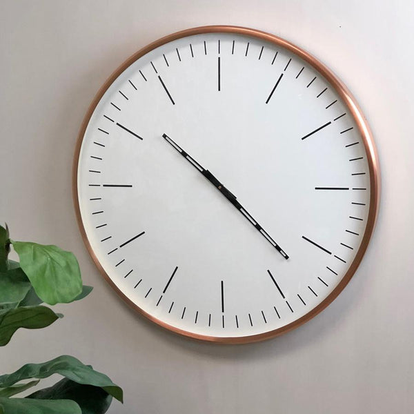 Large Copper Wall Clock | Farthing 2