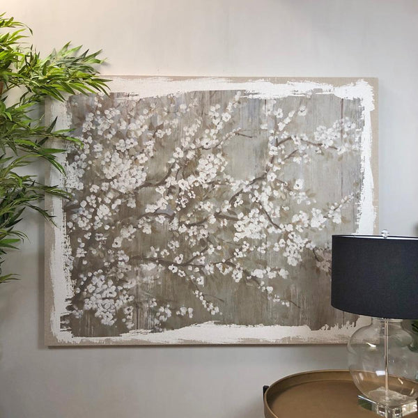 Large Distressed Blossom Canvas | Farthing 1