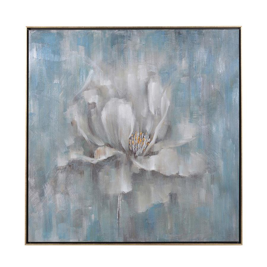 Large Distressed Flowering Canvas | Farthing