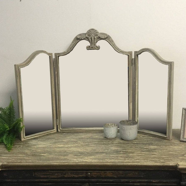Large Metal Shabby Chic Dressing Table Mirror - The Farthing
