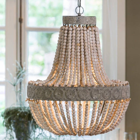by clay product lim design white chandelier chandeliers style beach home beaded