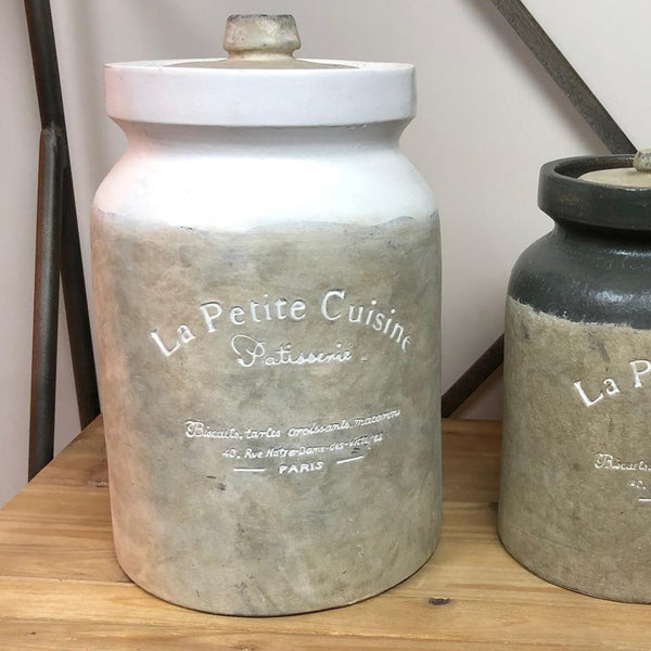 Large Parisian Kitchen Storage Jar - White at the Farthing
