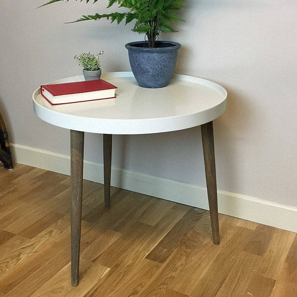 Large Round Lipped Side Table - Clay - The Farthing  - 1