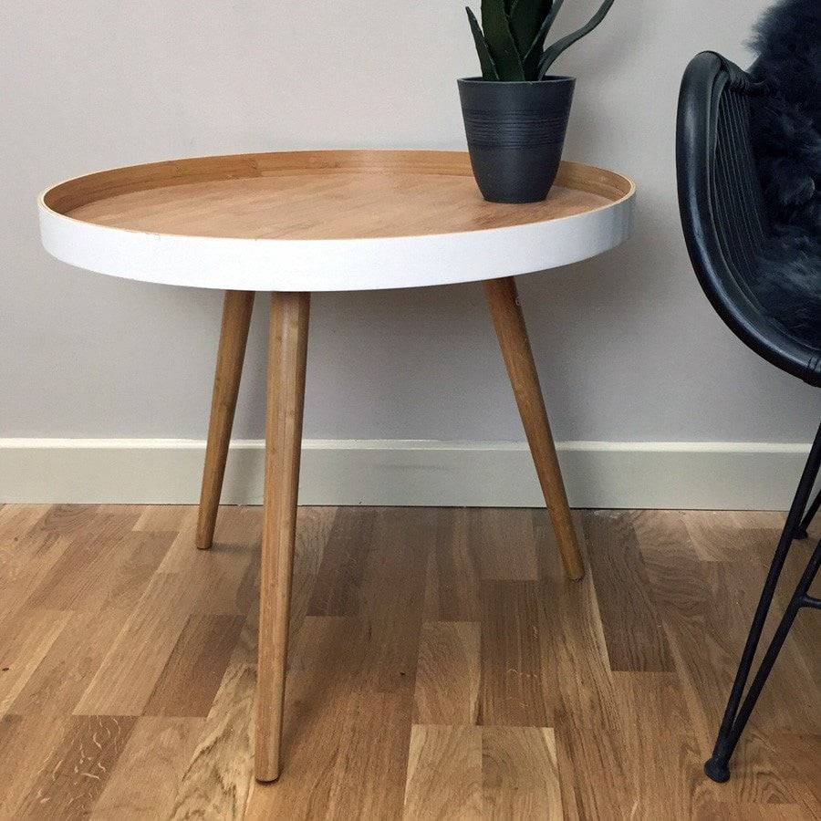 Large Round Nordic Side Table - The Farthing