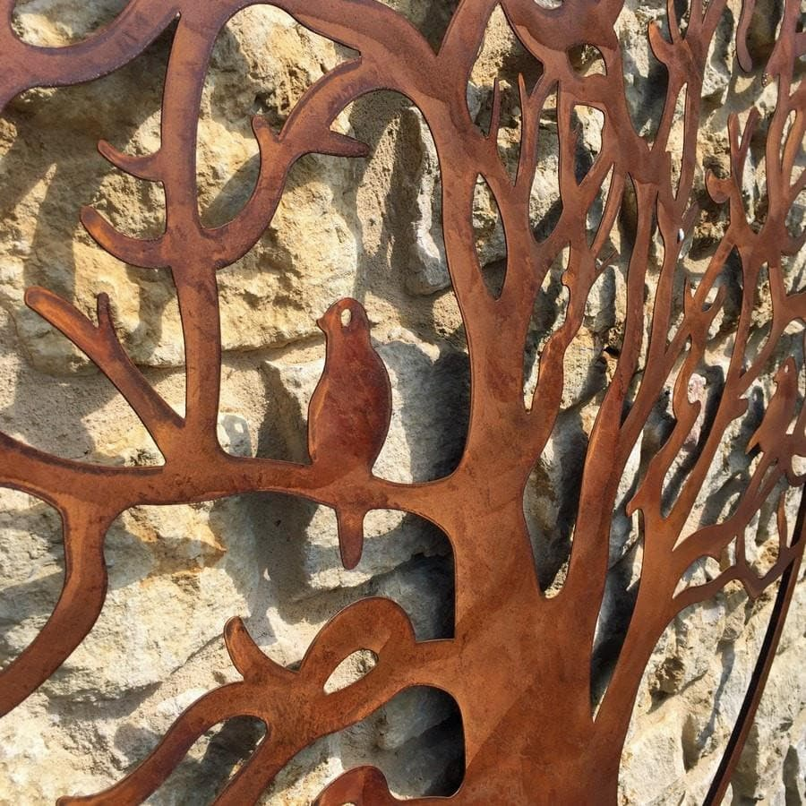 Large Rustic Metal Tree Wall Art - The Farthing
