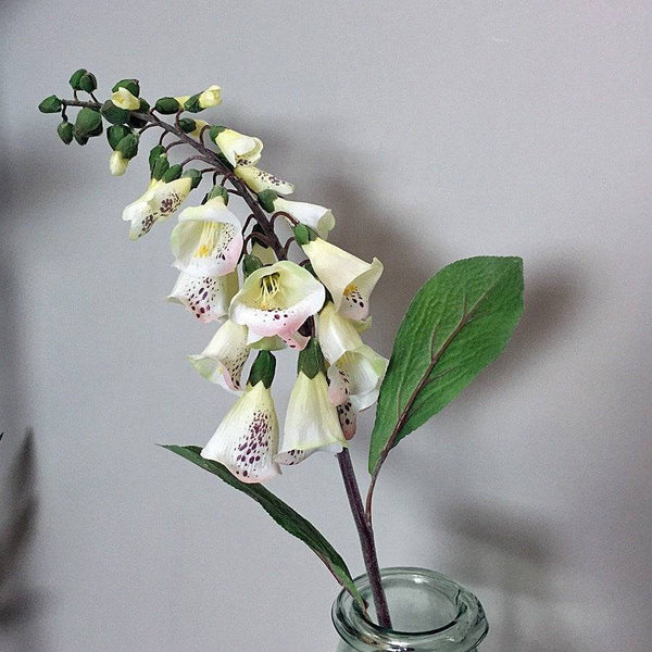 Large White Faux Foxglove Stem - The Farthing
