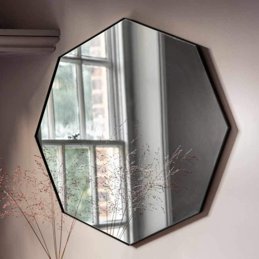 Large Octagonal Wall Mirror at the Farthing