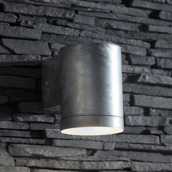 Large Rustic Galvanised Down Light | The Farthing