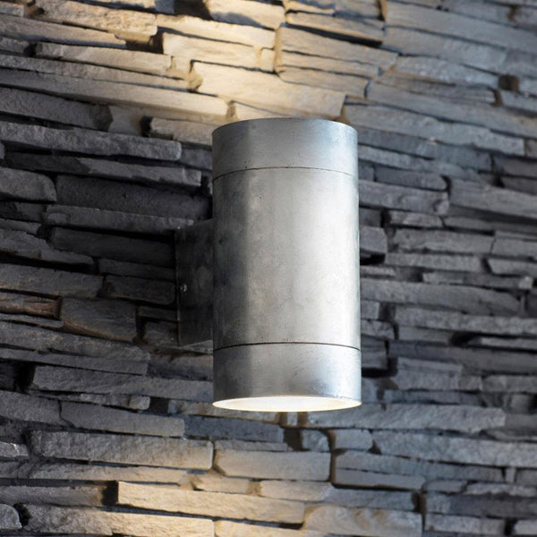 Large Rustic Galvanised Up & Down Light | The Farthing