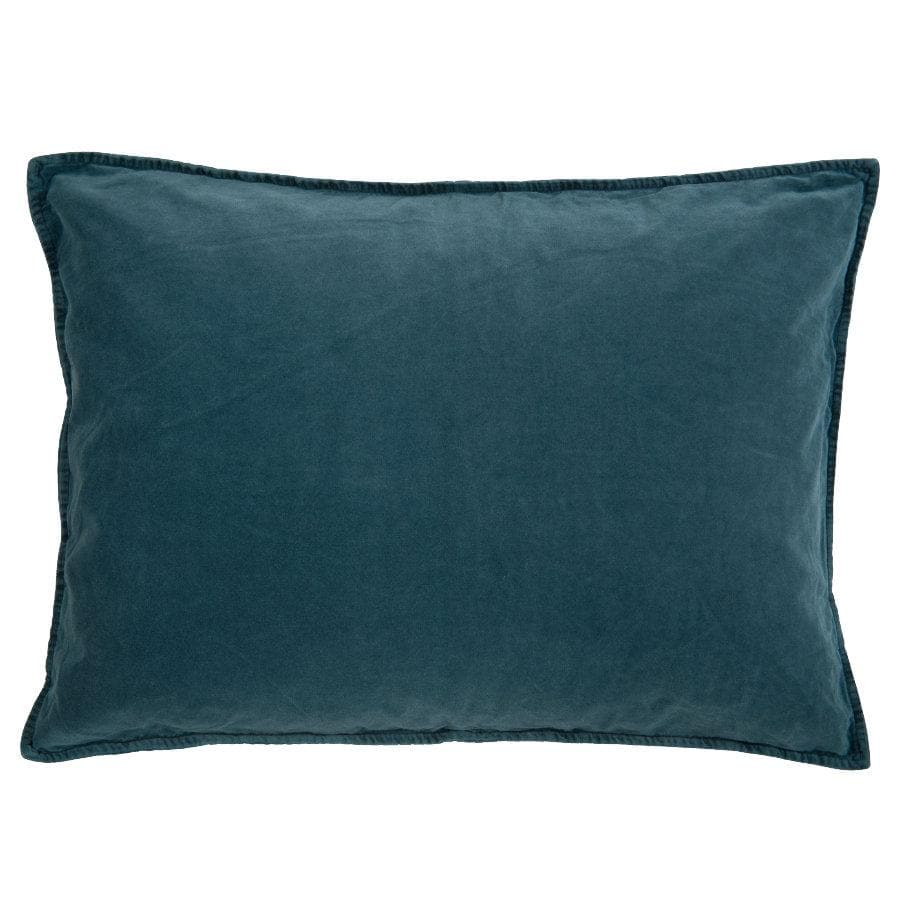 Large Soft Velvet Rectangle Cushion - Dark Blue at the Farthing