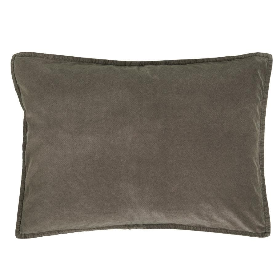 Large Soft Velvet Rectangle Cushion - Mushroom at the Farthing