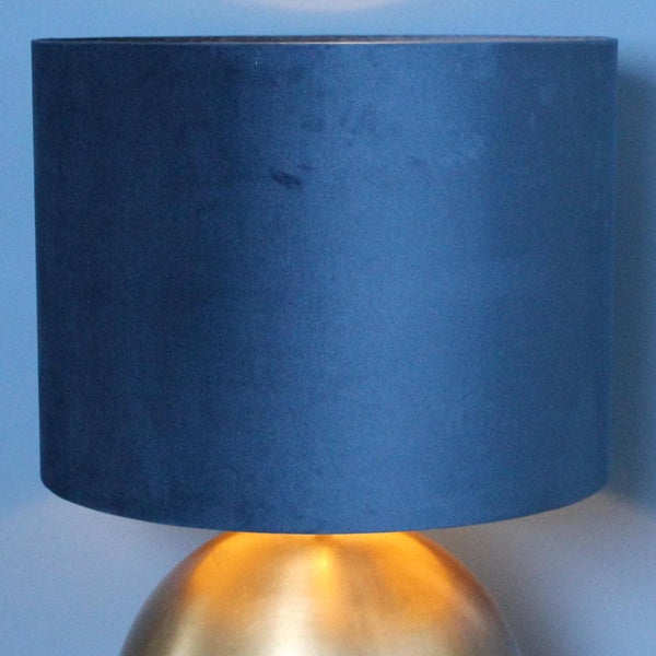 Large Velvet Lamp Shade -  Blue at the Farthing