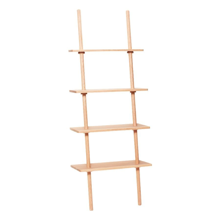 Leaning Oak Display Shelf Ladder at the Farthing