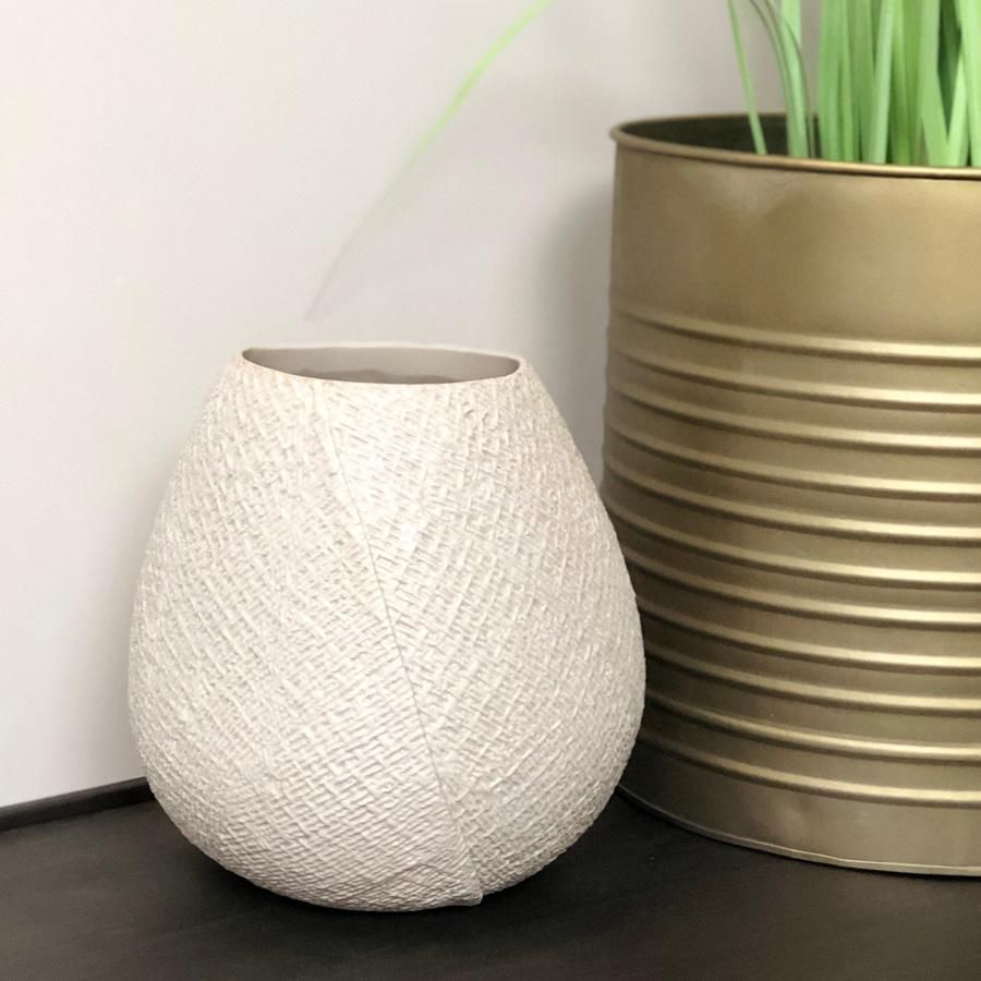 Light Grey Ceramic Vase | Farthing 2