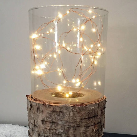 Light Up Naked Copper Wire 40 LED Garland - The Farthing - 3