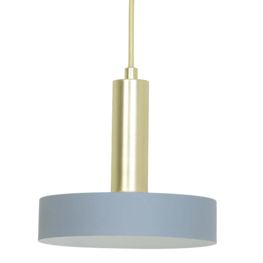 Light Grey Saucer Pendant Light - metal at the Farthing