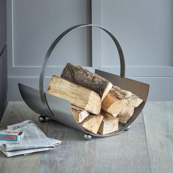 Lodge Steel Round Log Holder at the Farthing