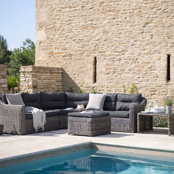 Lodsworth Corner Sofa Set - Rattan - The Farthing  - 1