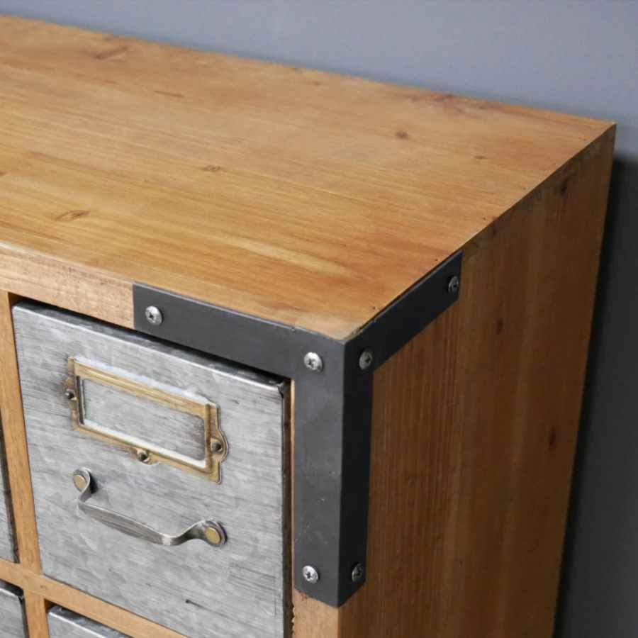 Low Industrial Drawer Cabinet