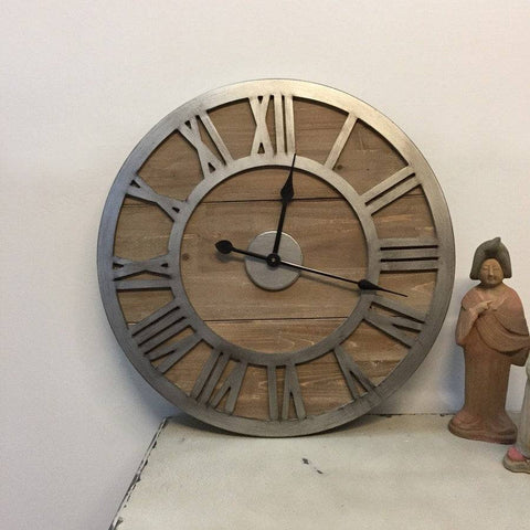 Manor Rustic Wooden Wall Clock - The Farthing  - 1
