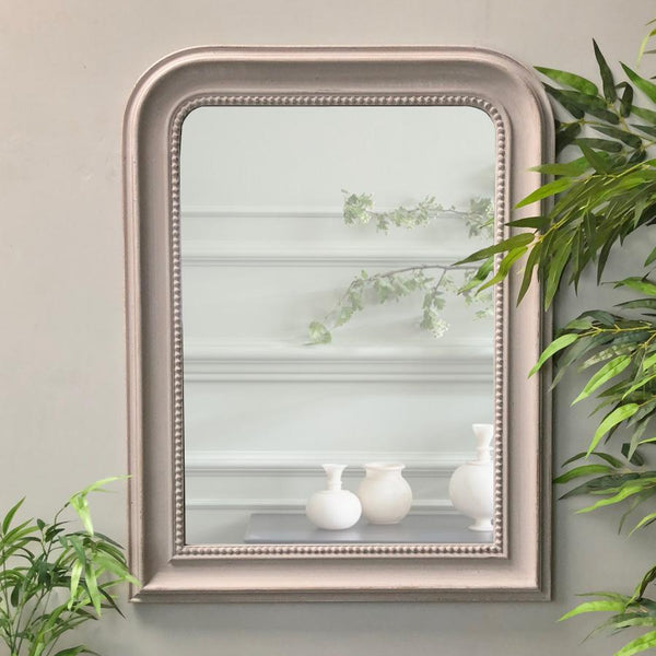 Manor Grey Beaded Wall Mirror | The Farthing