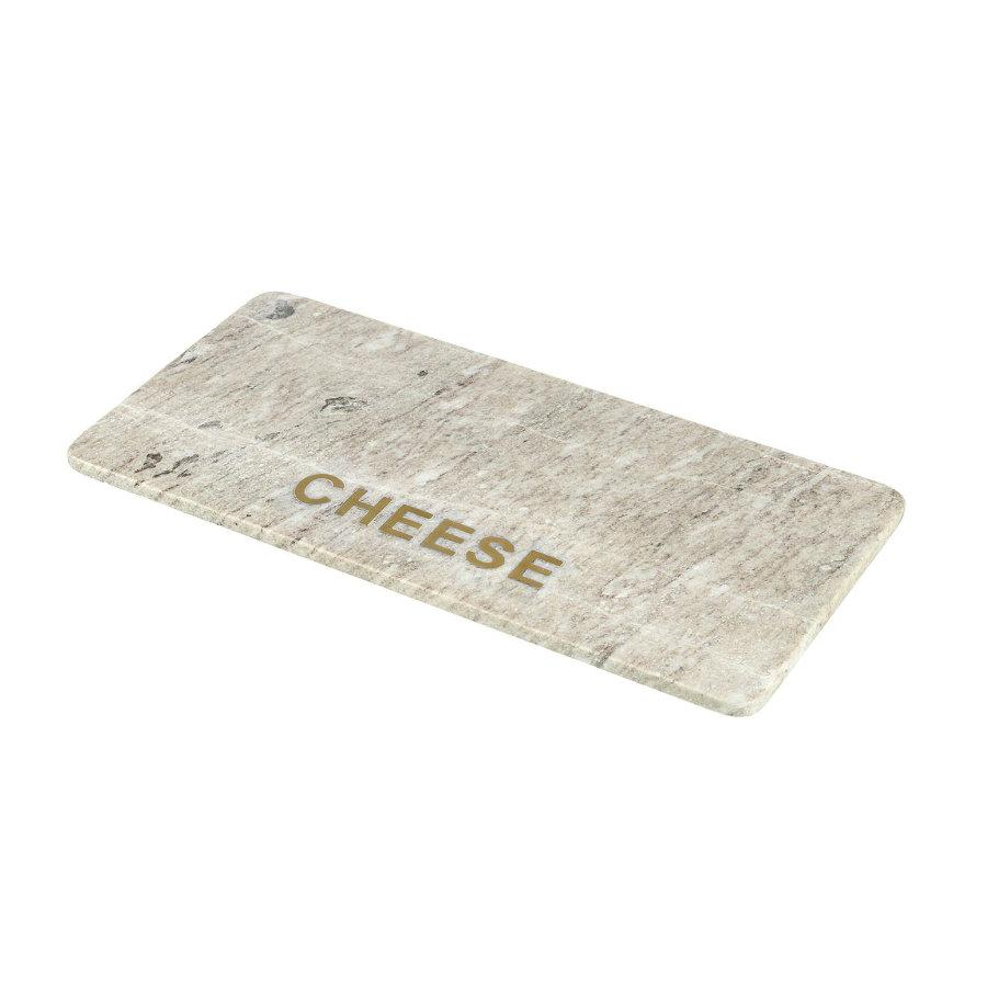 Marble Cheese Board with Brass Letters at the Farthing