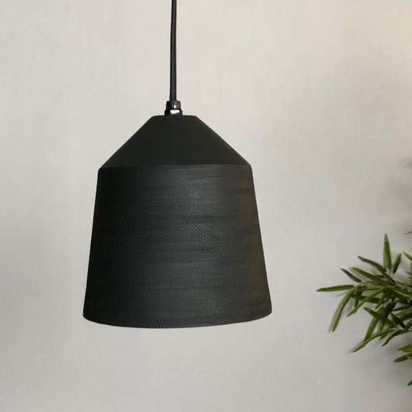 Matt Black Etched Pendant Lamp at the Farthing