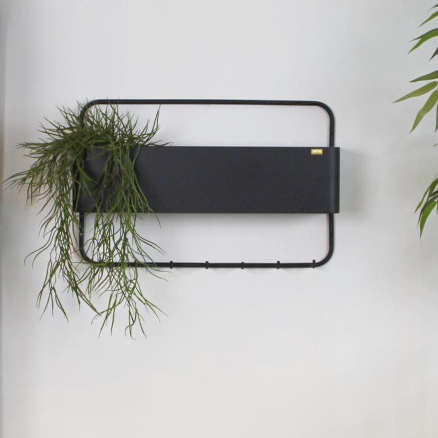 Matt Black Storage Hooks Rail at the Farthing 2