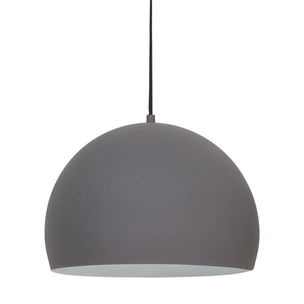 Matte Grey Metal Dome Pendant Light | The Farthing