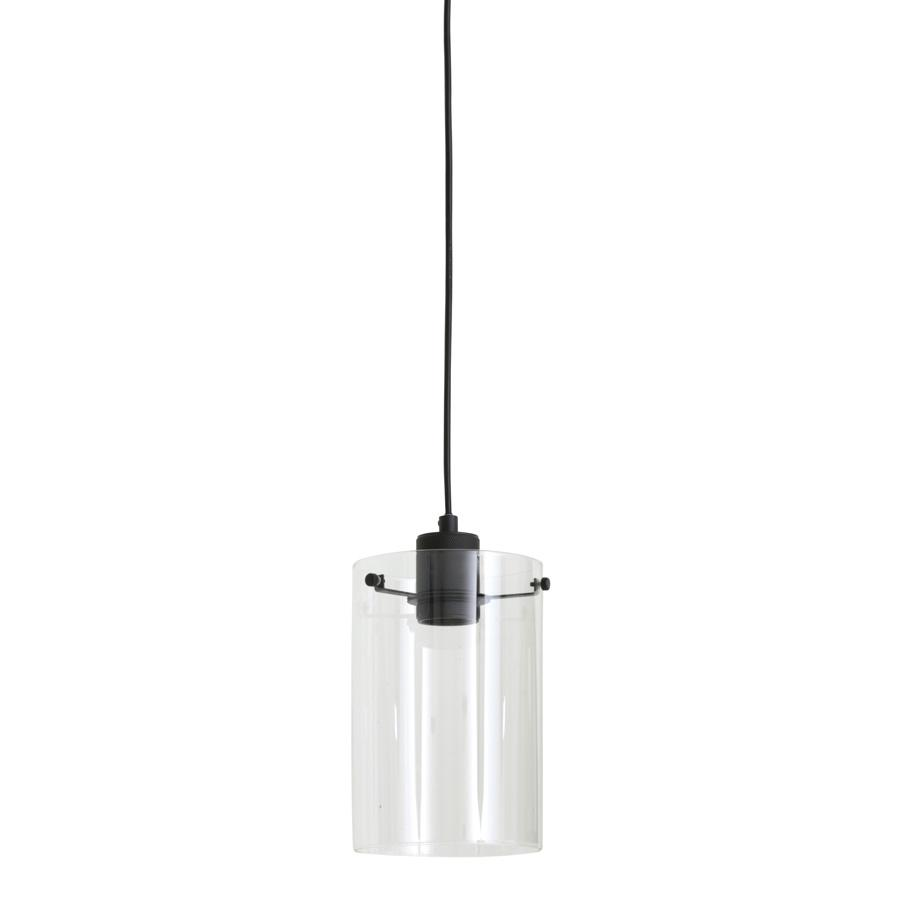 Matted Black Metal & Glass Pendant Light | Farthing