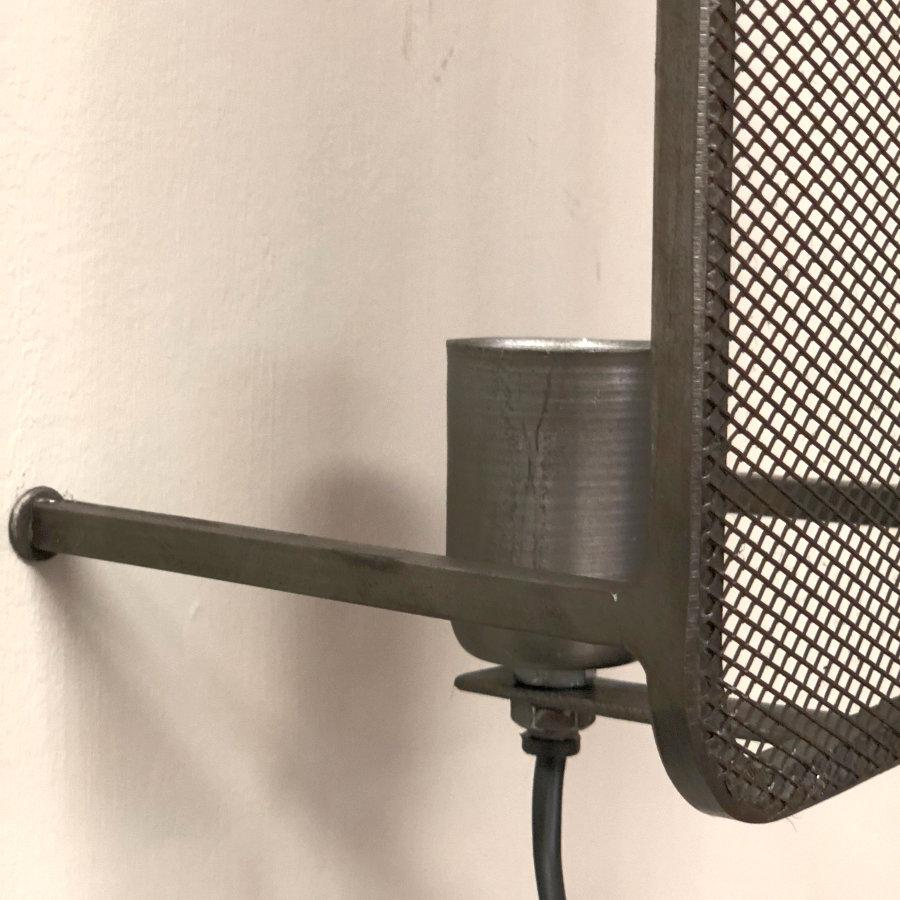 Mesh Fronted Industrial Wall Light at the Farthing 1